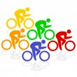 Royalty-Free Stock Imagen vectorial: Radfahrer Farben