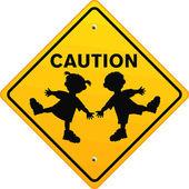 Caution Children — Stock Vector