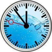 Wasser-uhr — Vector de stock
