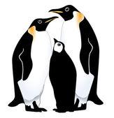 Pinguin-familie — Stockvektor