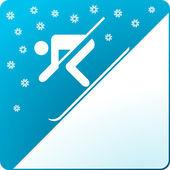 Kayak-schnee — Stok Vektör