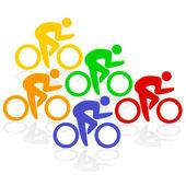 Radfahrer Farben — Stock Vector