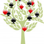 Spiel-Baum — Stock Vector