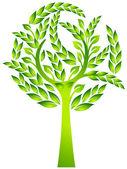 Baum- Blätter — Stock Vector