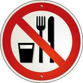 Essen verboten — Stock Vector
