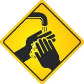 Händewaschen — Stock Vector