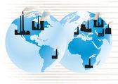 Kraftwerk-Welt — Stock Vector