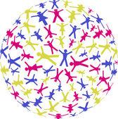 Menschen Kreise — Stock Vector