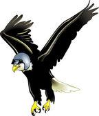 Adler mit Helm — Stock Vector
