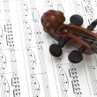 Royalty-Free Stock Photo: Violin and musical score