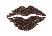 Lips Set of coffee beans. for decorate cafe. — Stock Photo