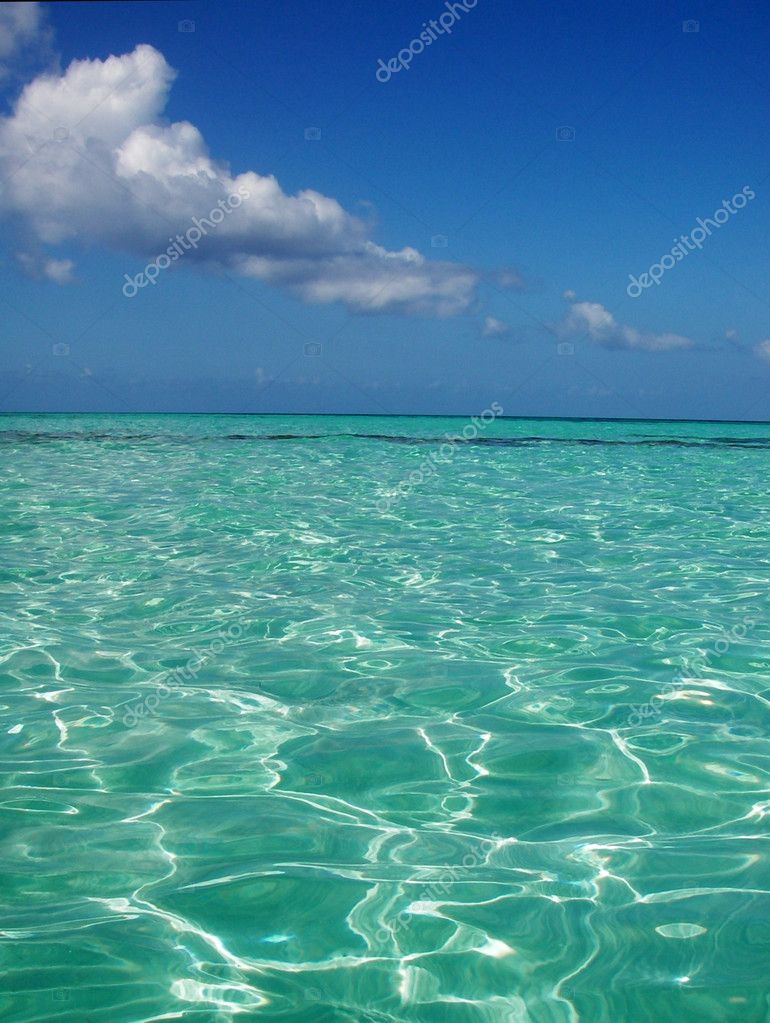 Sea landscape, transparent blue lagun  Stock Photo #2544594