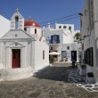 Stock Photo: MYKONOS ISLAND on street church