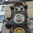 Clock on tower of the town hall — Foto Stock