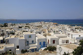 MYKONOS ISLAND roofs white — Stock Photo