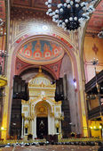 Budapest the Choral Synagogue interior — 图库照片