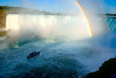 Rainbow on Niagara falls — Stock Photo
