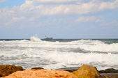 Storm in Mediterranean sea — Stock Photo