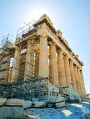 Parthenon on restorations — Stock Photo