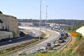 Tapón en carretera en horas pico — Foto de Stock