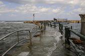 Storm in Mediterranean sea — Stock Photo