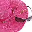 Beach hat and glasses. - Stock Photo