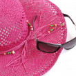 Royalty-Free Stock Photo: Beach hat and glasses.