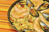 Paella. Traditional Mediterranean meal. — Stock Photo