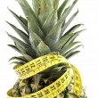 Pineapple with measuring tape. — Stock Photo