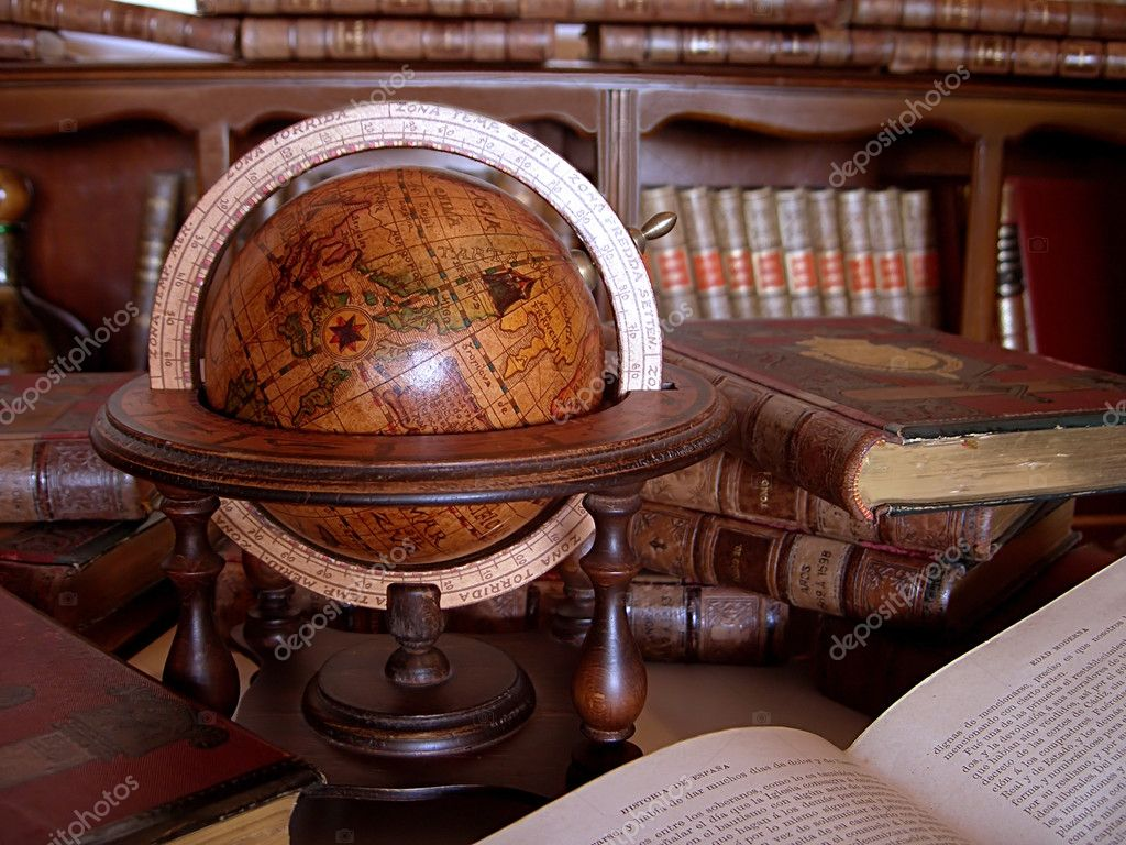 Ancient Books Wallpaper Ancient Books And Globe at