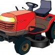 Lawn mower tractor - Stock Vector