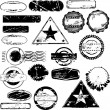 Empty rubber stamps - Stock Vector