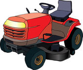 Lawn mower tractor — Stock Vector
