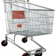 Shopping cart with clipping path — Stock Photo