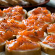 Sandwiches with smoked salmon — Stock Photo #2385464
