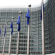 European commission with European flags — Stock Photo