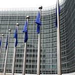European commission with European flags — Stock Photo