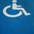 Parkingspace for disabled — Stock Photo