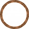 Folk circle frame — Stock Photo