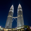 Petonas Towers at night — Stock Photo