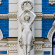 Detail of Art Nouveau building - Stock Photo
