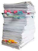 Pila de residuos de papel — Foto de Stock