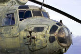 Old Soviet helicopter — Stock Photo