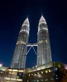 Petonas Towers at night — Stockfoto