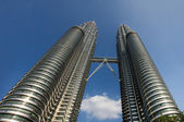 The Petronas Towers in Kuala Lumpur — Stock Photo