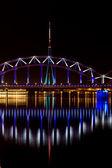 Riga Railway bridge — Stock Photo