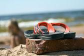 Zapatillas de playa — Foto de Stock