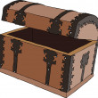 Empty treasure chest — Stockvectorbeeld