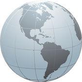 Globe_SN_America — Stock Vector