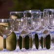 Empty champagne glasses — Stock Photo